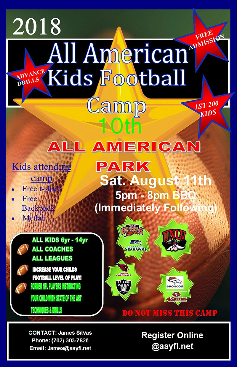2018 10th Annual Kids Football Camp